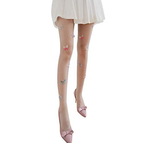 Kousen Lolita Kousen Voor Vrouwen Meisje S Panty's Ontwerp Leuke Vlinder Tattoo Party Tights Nylons kousen Grijs