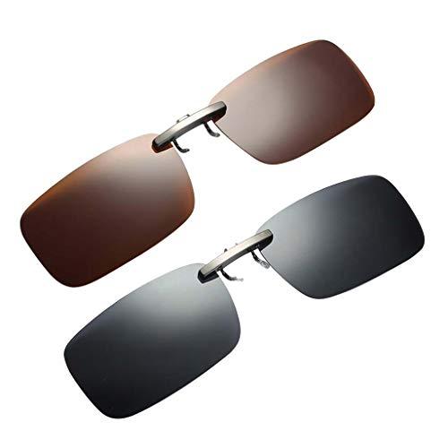 oshhni 2 X Clip de Fijación para Gafas de Protección Solar en POLARIZADO para CONDUCIR UV