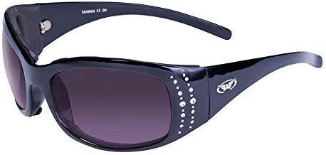 Global Vision Eyewear Marilyn 2 Plus Women's Foam Padded Riding Sunglasses Black Frame (Smoke)