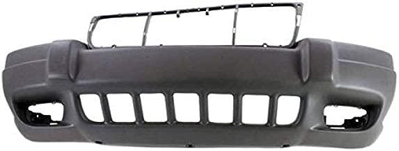 Partomotive For 99-03 GR Cherokee Laredo Front Bumper Cover w/Fog Lamp Hole CH1000312 5FN29WLPAB