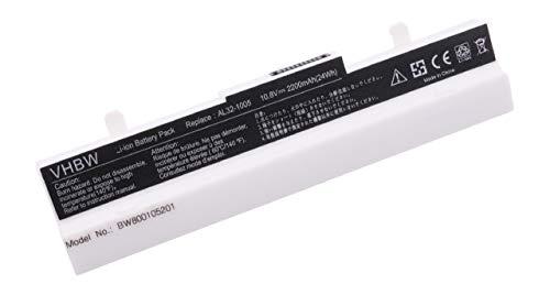 vhbw Li-Ion Akku 2200mAh (10.8V) Weiss passend für Notebook Laptop Asus Eee PC 1005P, 1005HA, 1001P, R101, R101D, R101PX, R101X, R105, 1001PQD, 1001PX
