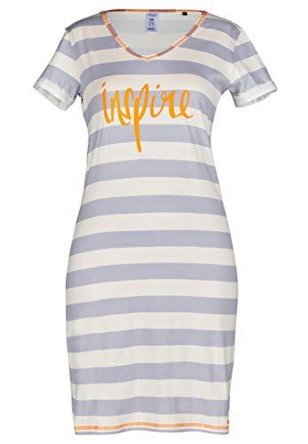 Skiny Damen Summer Nights Sleep Sleepshirt Kurzarm Nachthemd, Mehrfarbig (Light Stripe 1244), 42