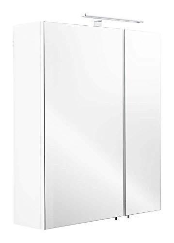 emotion Spiegelschrank 60x68x16cm mit LED Leuchte weiß matt