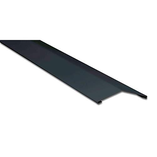 Firstblech flach | Kantteil | 198 x 198 mm | 150° | Material Stahl | Stärke 0,63 mm | Beschichtung 25 µm | Farbe Anthrazitgrau