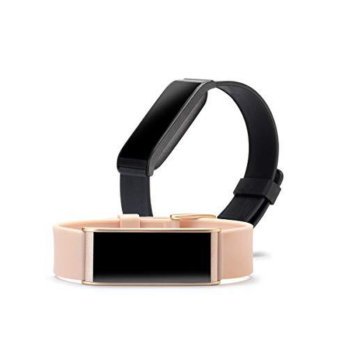 MyKronoz ZeFit4HR - Reloj de ritmo cardíaco, pantalla táctil a color y notificaciones de teléfonos inteligentes, color negro