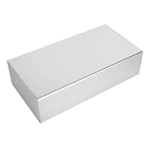 Caja de aluminio, caja de placa de circuito de moldeo integrado de disipación de calor de arena, 3.1 × 6.3 × 11.8in profesional para caja de conexiones PCB GPRS