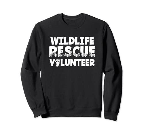 Vida Silvestre Rescate Voluntario Animal Gato Perro Adopción Sudadera