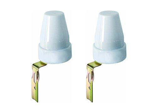 Electraline 92283 Interruttore Crepuscolare per Uso Esterno IP44, 2 Pezzi, Bianco, Confezione da 2