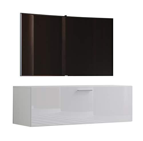 """VCM TV Wand Board Fernsehtisch Lowboard Wohnwand Regal Wandschrank Schrank Tisch Hängend Weiß 40 x 115 x 36 cm \""""Fernso\"""""""