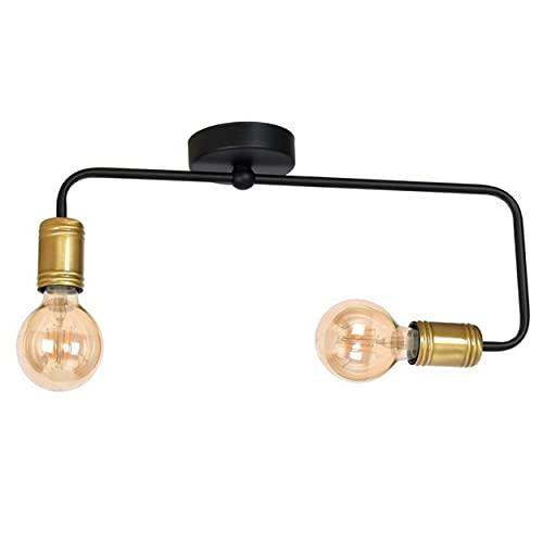 Homemania Lámpara de Techo, Metal, Negro, Dorado
