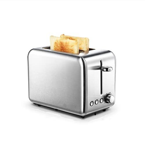 2 Slice Roestvrijstalen Toasters, One-Button Operatie, dubbelzijdig bakken, 6 broodschaduwinstellingen, verwijderbare kruimellep, met bagel, annuleren, ontdooien functie, 770W