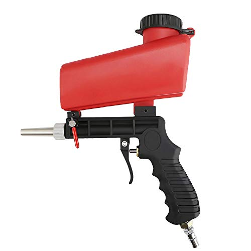Pistola neumática de chorro de arena de 1/4 pulgadas, pistola de velocidad de chorro de arena, 90 PSI, removedor de óxido, kit de herramientas de chorro de arena de aire abrasivo