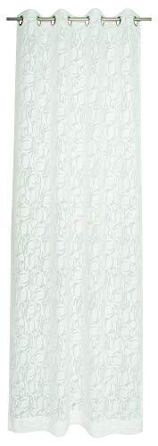 Joop! Living Fine Allover - Tenda con occhielli, 140 x 250 cm, semitrasparente