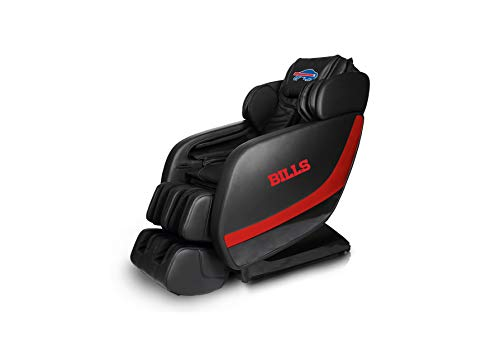 Buy Discount NFL Electric Full Body Shiatsu Massage Chair Foot Roller Zero Gravity Wheat (Buffalo Bills)