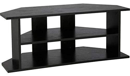 Moderner TV-Eckschrank für Wohnzimmer/Lounge, Schwarz