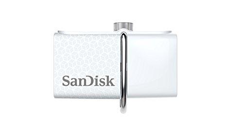 SanDisk Ultra Dual USB-Flash-Laufwerk 32 GB USB 3.0 bis zu 150MB/Sek, weiß