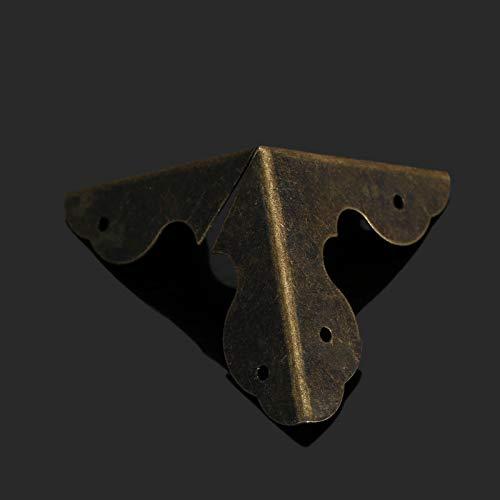NO LOGO LT-Protector, Décoratif Bronze 12pcs Antique d'angle Supports en Bois Boîte à Bijoux Poitrine vin boîte-Cadeau d'angle Protecteur W/Scews (Taille : 23x23x23mm)