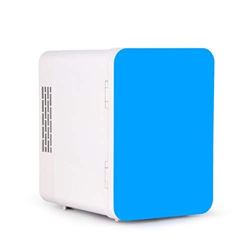 Mini Frigorífico, Mini Refrigerador Refrigerador Y Más Cálido, Compacto Refrigerador Personal Mini Congelador Con Tablero De Almacenamiento Extraíble, Alimentos Portátiles Medicamentos De (Color:Azul)