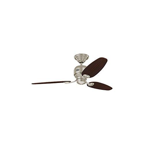 HUNTER CasaFan Design Deckenventilator SOHO - Rotorblatt-Ø 1320 mm - Schokoladenbraun/Ahorn/Chrom gebürstet - Deckenventilator Klimagerät Ventilator