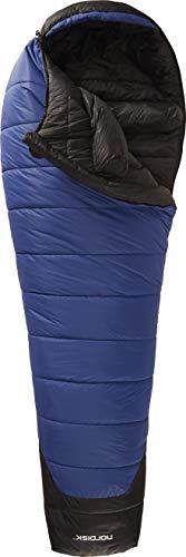Nordisk - GORMSSON Schlafsack, Außenmaterial aus 30 D Nylon, klassischer Mumienschlafsack, integrierte Fußtasche, Verschiedene Ausführungen, 10, -2, -10, -20 Grad, Blau (XL, -20 Grad)