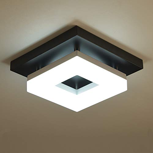Anmaice Flush Mount led Ceiling Light Fixtures,3000K/4000K/6500K 8in 8W[60W Equiv] Dimmable Ceiling Lights for Hallways Balcony Cloakroom Washrooms Stairwell