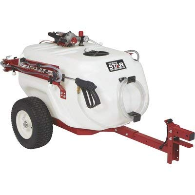 NorthStar Tow-Behind Trailer Boom Broadcast and Spot Sprayer - 61-Gallon Capacity, 5.5 GPM, 12V DC
