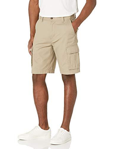 Amazon Essentials Classic-Fit Cargo Short Pantaloncini, Beige (Dark Khaki), 34W