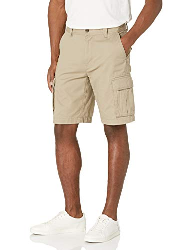 Amazon Essentials Men's Classic-Fit Cargo Short, Green Camo, 34