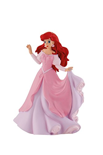 Bullyland 12312 - Spielfigur, Walt Disney Arielle im rosa Kleid, ca. 10 cm groß, liebevoll handbemalte Figur, PVC-frei, tolles Geschenk für Jungen und Mädchen zum fantasievollen Spielen