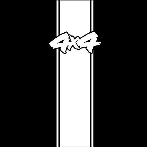 2 Piezas, calcomanías y calcomanías para automóviles Racing Rally Stripes Hemi White Car Car Graffiti Sticker Calcomanías Pegatinas de Parachoques Vinilos para computadoras portátiles, Motocicletas,