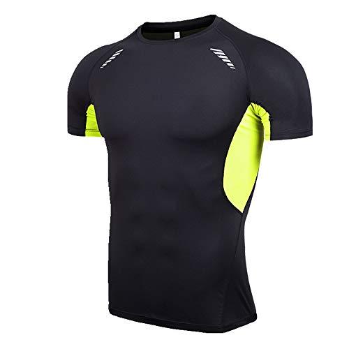 NOBRAND Herren Body Kurzarm Sportswear Elastisch Schnell Trocknend Kleidung Gr. 56, grün