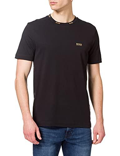 BOSS Herren Tee Gold 1 10230216 01 T-Shirt, Black1, XL