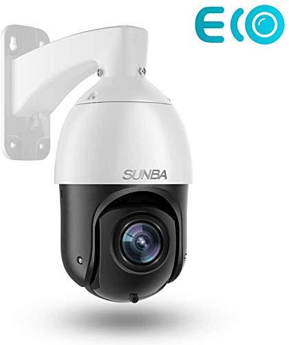 SUNBA 3MP IP PoE+ PTZ Überwachungskamera im Freien, 20X optischer Zoom@H.265, Bewegungs- und Formerkennung, 24x7 automatische Überwachung, bis zu 100 m Nachtsicht (405-D20X ECO Edition)