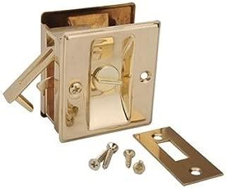 Pocket Door Privacy Lock-Bright Brass