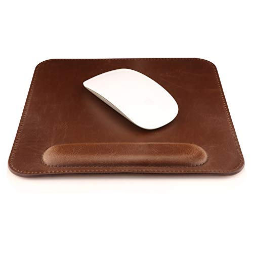 Londo Leather Mouse pad with Wrist Rest (Dark Brown), Original version (OTTO216)