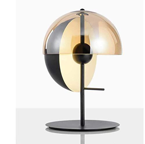 Lámpara de escritorio Lámpara de mesa Personalidad Simple Creativo Semicirculares Semicirculares Lámpara Modelo Moderno Habitación Cama de dormitorio Lámpara superior Diámetro 300mm * Altos 500mm