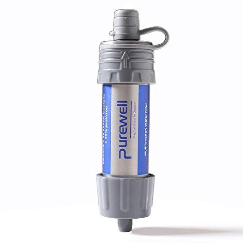 NO LOGO Purificateur d'eau portable d'urgence mini filtre 5000 L filtration pour activités de plein air mini purificateur d'eau, blanc