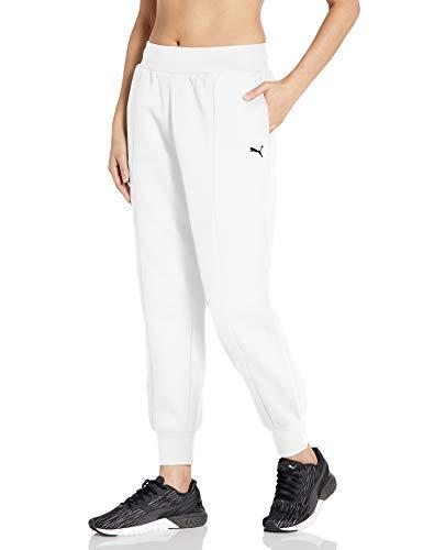 PUMA Damen Rebel Sweatpants Jogginghose, Weiß, X-Groß