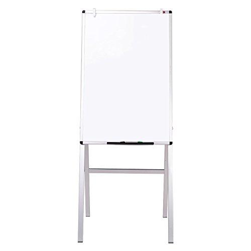VIZ-PRO Chevalet de conférence-Tableau Blanc Effaçable & Magnétique- Réglable en hauteur, 60 x 90 cm