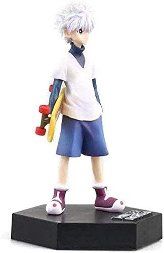 NoNo Anime Modell Killua Skateboard Animiertes Charakter Modell für Kinder Geburtstagsgeschenk 7.9 PVC Figur Anime Geschenke Spielzeug Modell Kits