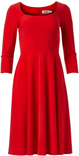 Eliza J Women's 3/4 Sleeve Scoop Neck FIT and Flare Dress, Poppy, 26 Plus