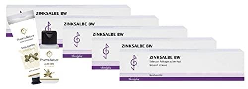 Zinksalbe BW 100 ml Sparset enthält 5 x 100 ml Zinksalbe und 1 x Handcreme (ODER Duschbad ) der Marke Pharma Nature