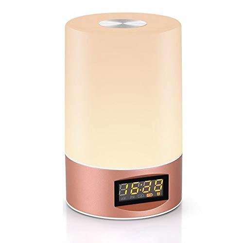 Kfhfhsdgsatd Lampara Mesa Pantalla LCD, pantalla LCD, pantalla LCD, pantalla LCD, Reloj despertador, Lámpara de escritorio LED portátiles, lámpara de mesa de tiempo de recarga USB, lámpara de mesita d
