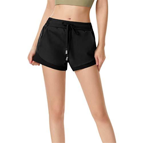Las mujeres con cordón de yoga pantalones cortos de verano de deportes para la aptitud al aire libre transpirable pantalones calientes Slim gimnasio entrenamiento yoga pantalones calientes
