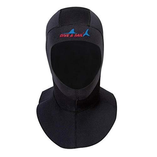 CUTICATE 3mm Neoprenhaube Schnorcheln Tauchen Haube Wassersport Kälteschutz Kopfhaube für Herren Damen - L