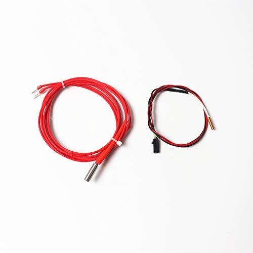 Gimax Prusa i3 mk2s/mk3 3D Printer hot end thermistor, 12V/24V 40W Cartridge kit - (Size: MK3)