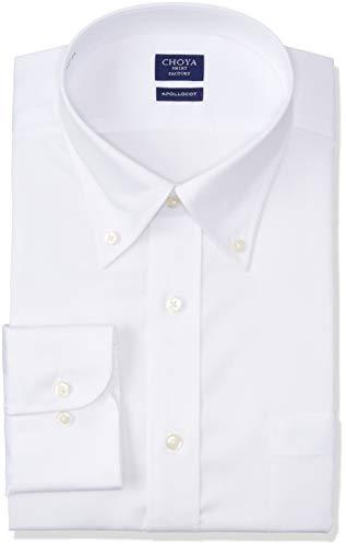 [チョーヤ] CHOYA SHIRT FACTORY 長袖メンズワイシャツ アポロコット CFD821 200-ボタンダウン 日本 4278 (日本サイズL相当)