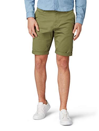 Blend Ragna Chino Pantal/ón Corto Bermuda Pantalones De Tela para Hombre con Cintur/ón De 100/% Algod/ón Regular-Fit