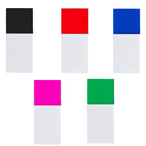 Natuiahan Pack 5 Imanes para la Nevera con Cuadernos de 40 Hojas Pequeñas. Blocs de Notas Magnéticos para Lista de Tareas