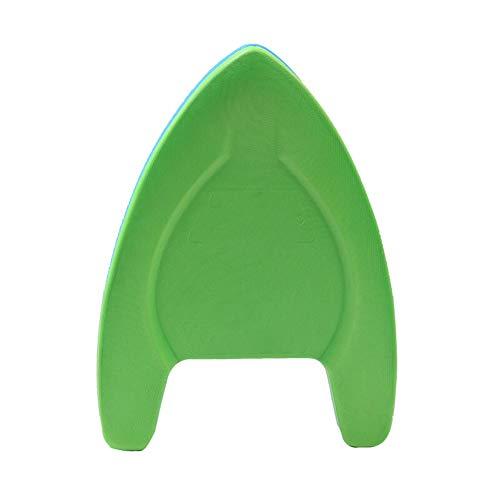 Tabla de natación para adultos y niños, tabla de natación ligera de EVA con costuras antideslizantes suaves de dos colores más alta-azulplusgreen